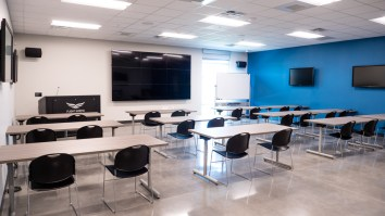 The multipurpose room offers students and visitors high-tech instruction and interactive learning. (contributed)