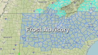 James Spann: Frost Advisory for Alabama tonight