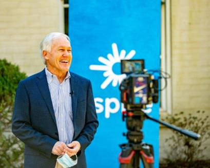 Dr. Gary Cowen of the Jasper City Council is among the first customers for the newly installed C Spire high-speed internet service. (contributed)