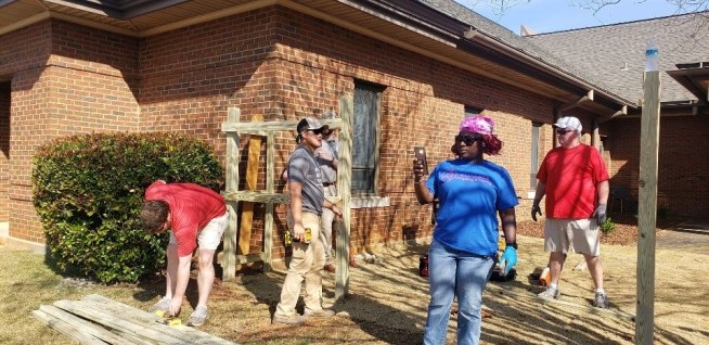 Children of Autauga County can play outdoors at ACDHR thanks to the help of the Autauga Leadership class, APSO employees and other volunteers in the community. (Sara Herman / Alabama NewsCenter)