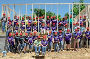 Volunteer for the Habitat for Humanity Women's Building Event in the Chipola area of Jackson County, Fla., May 7. (Local Habitat for Humanity by Chipola / Rural Studio)