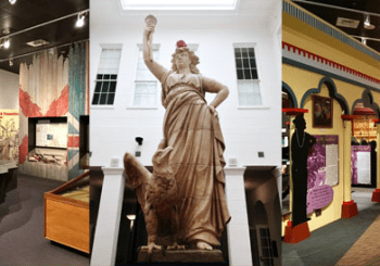 Some of the galleries in the History Museum of Mobile