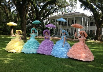 Azalea Trail Maids in garden of Bragg-Mitchell Mansion