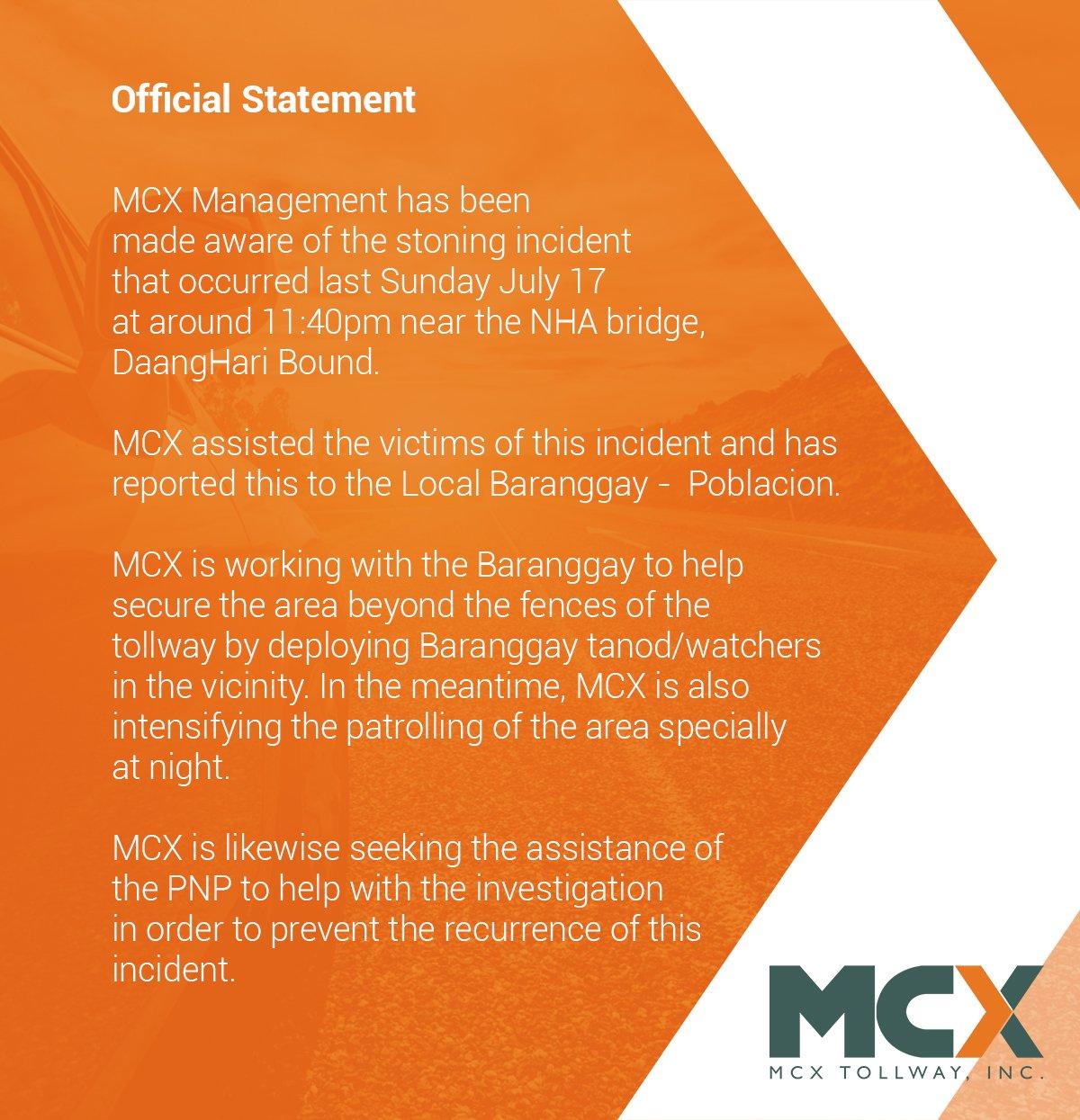 mcx statement