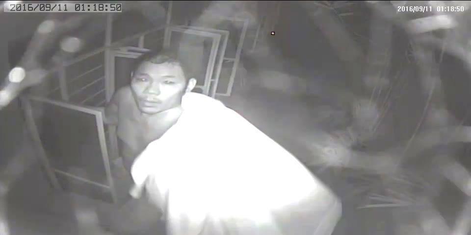 CCTV screenshot of the suspect.