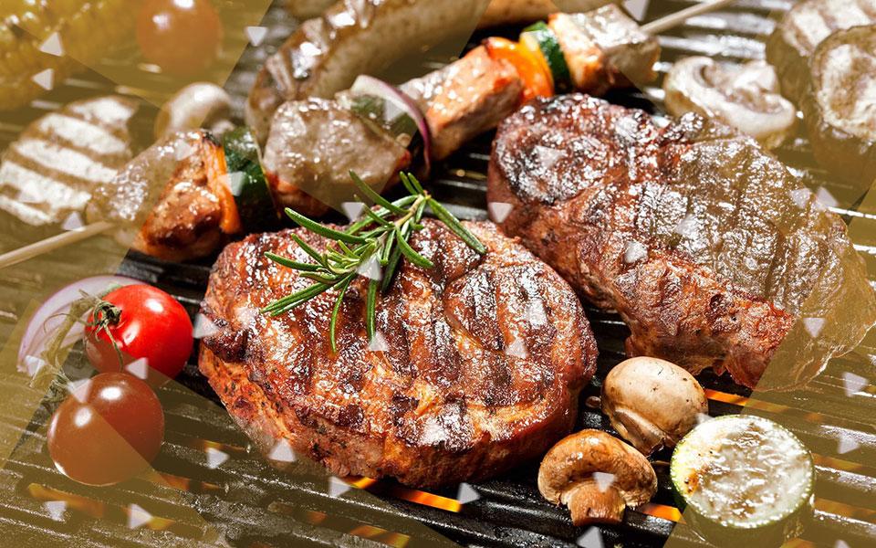 Barbacoa con carbón vegetal