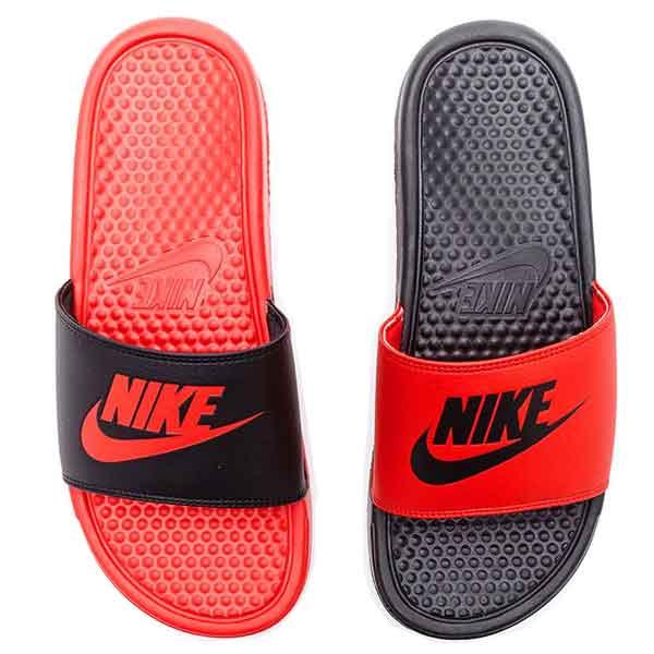 ea73b6d6580b Nike Benassi Jdi Men s Slide - Black   Red
