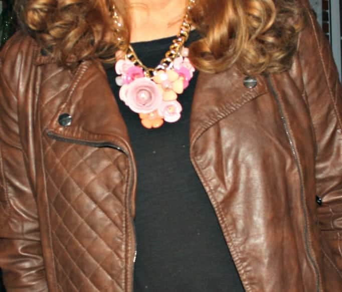Pink Posey necklace from Yosa