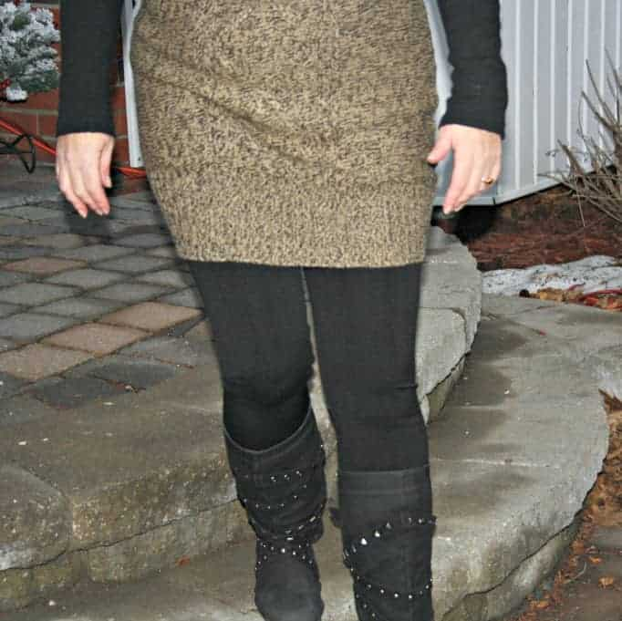 giant tiger boots and lined leggings