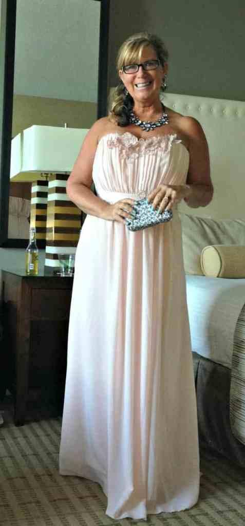 h & M chiffon blush dress