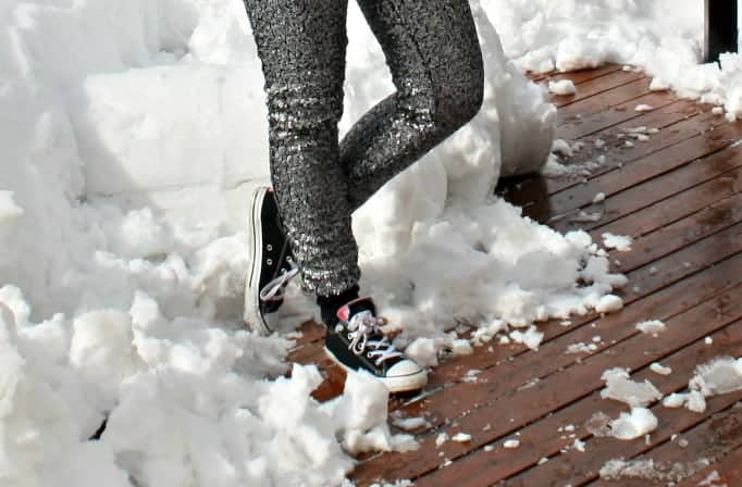 H&M Sequin Pants and, converse sneakers