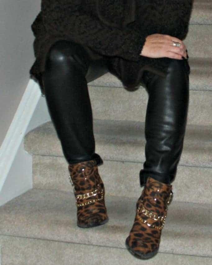 shoe dazzle leopard booties