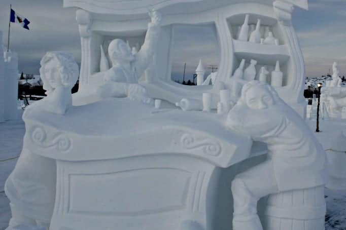 yellowknife snow sculpture