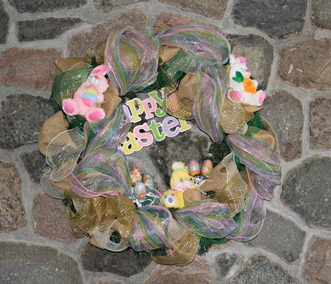 Easter Decomesh wreath