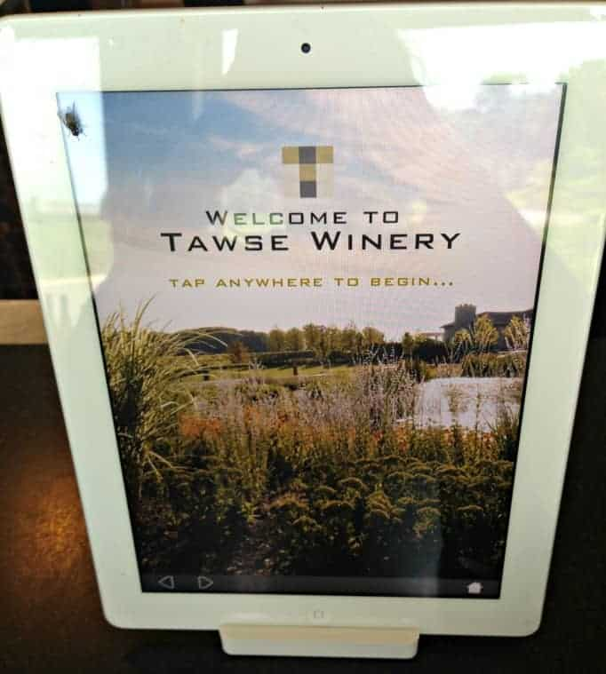 Tawse Winery, I Pads to ease the tour