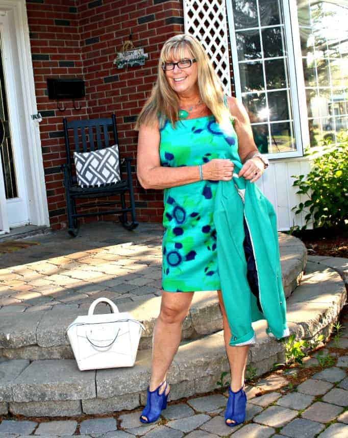 Shift Dress and shoe dazzle mesh wedges and a beau bag