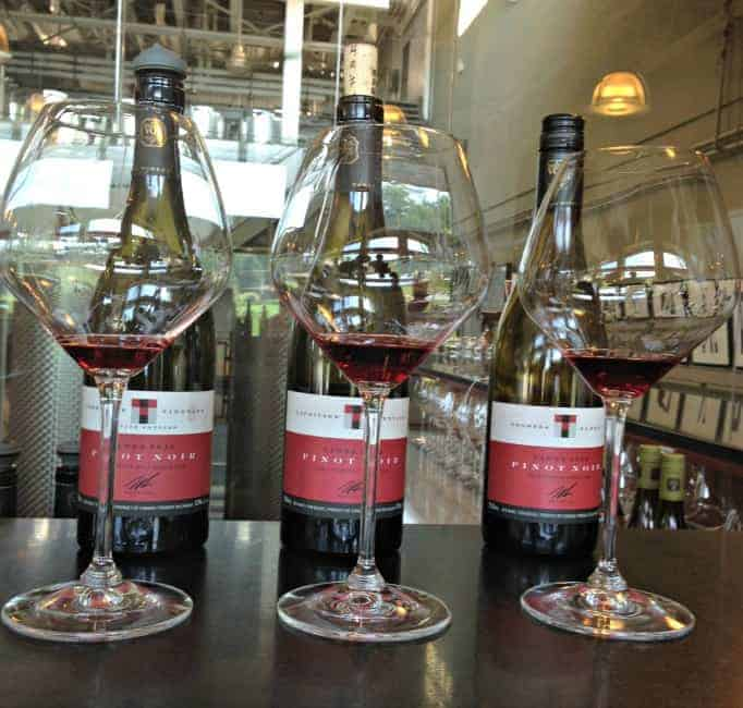 Tawse Winery, a selection of Pinot Noirs