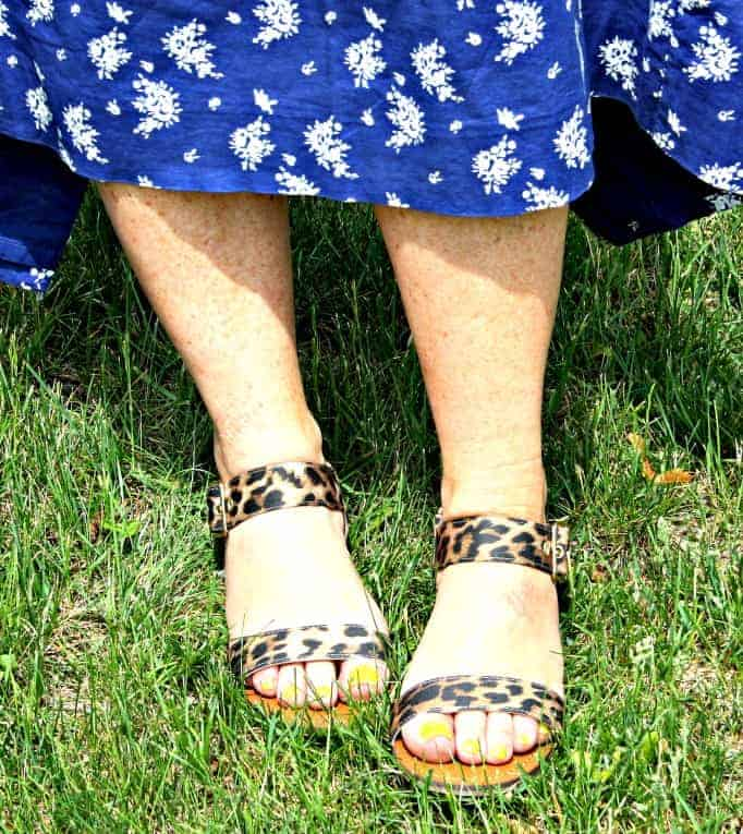 Target Leopard sandals