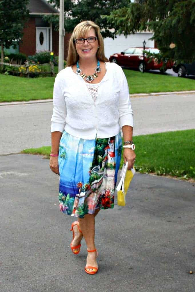 Vanheusen Cardigan and shein skirt