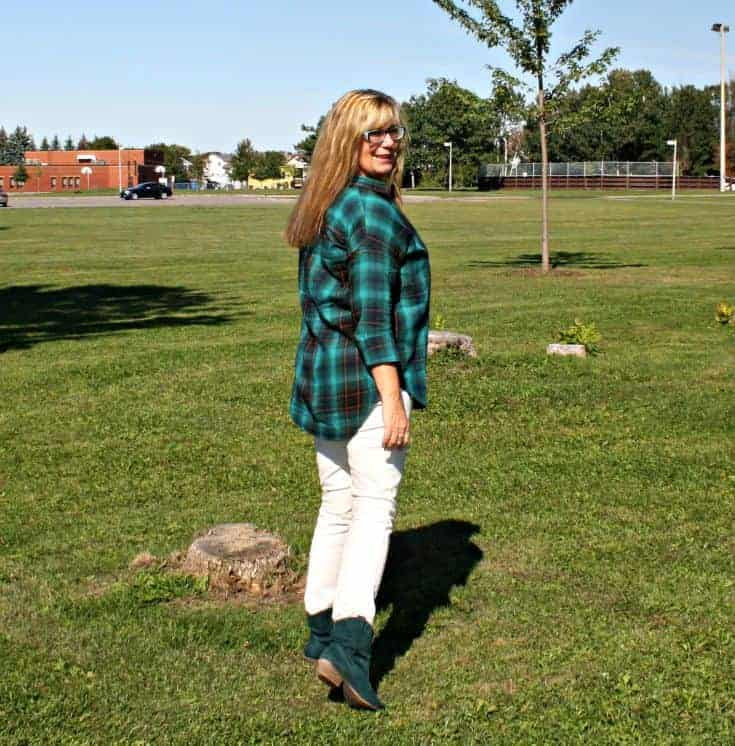 green flannel from Old Navy