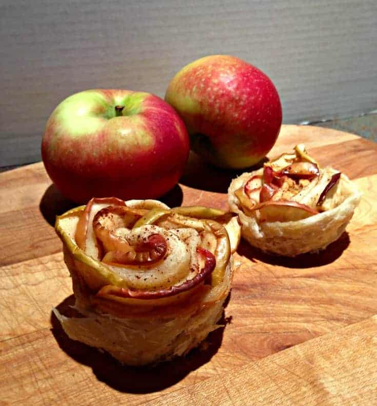 apple roses and red apples