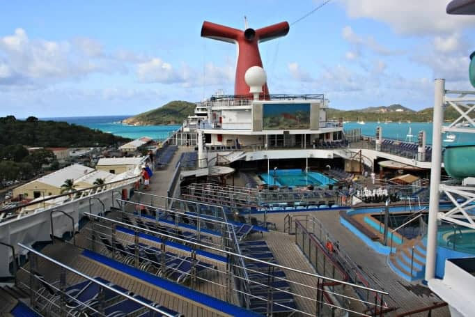Mid ship on the Carnival Glory