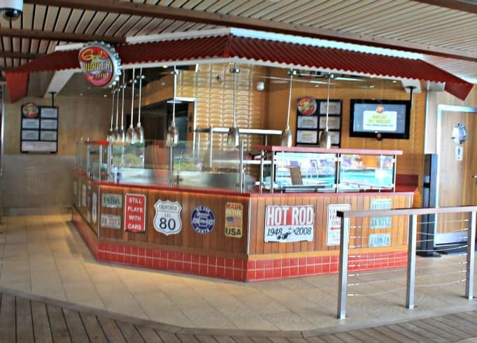 Guys Burger Joint on the Carnival Glory