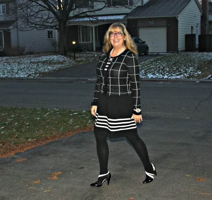 Black and white pumps from shoe dazzle and kate spade watch
