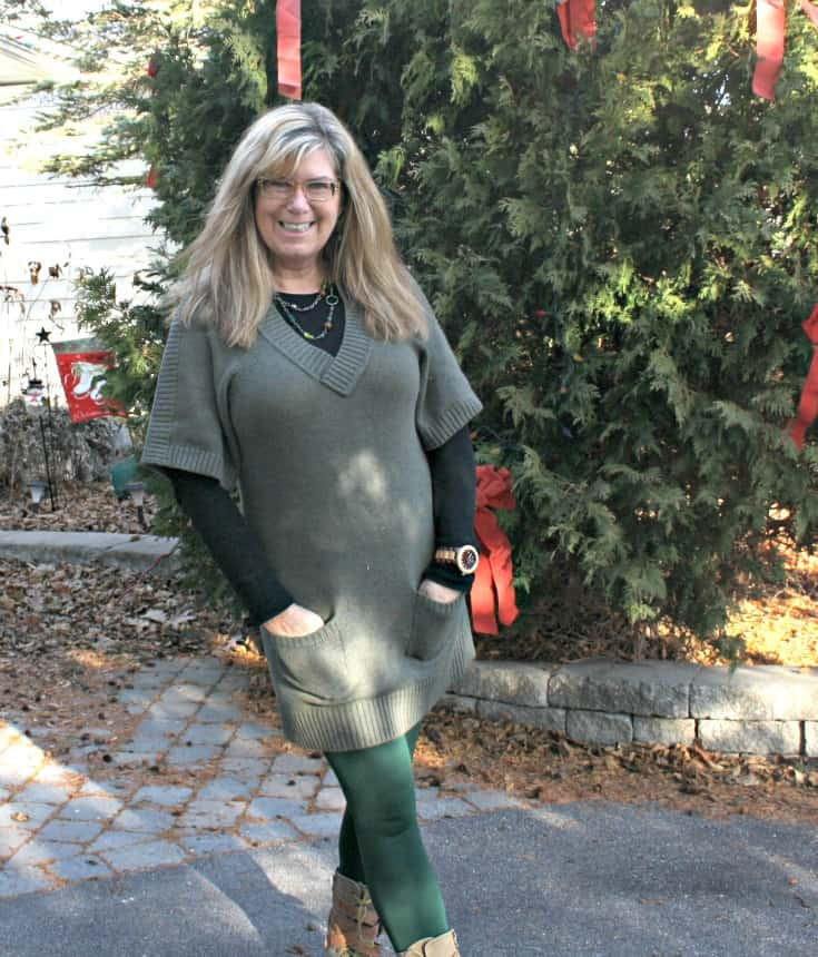 Jord watch with Banana Republic tunic and LNBF Leggings with Giant Tiger Boots