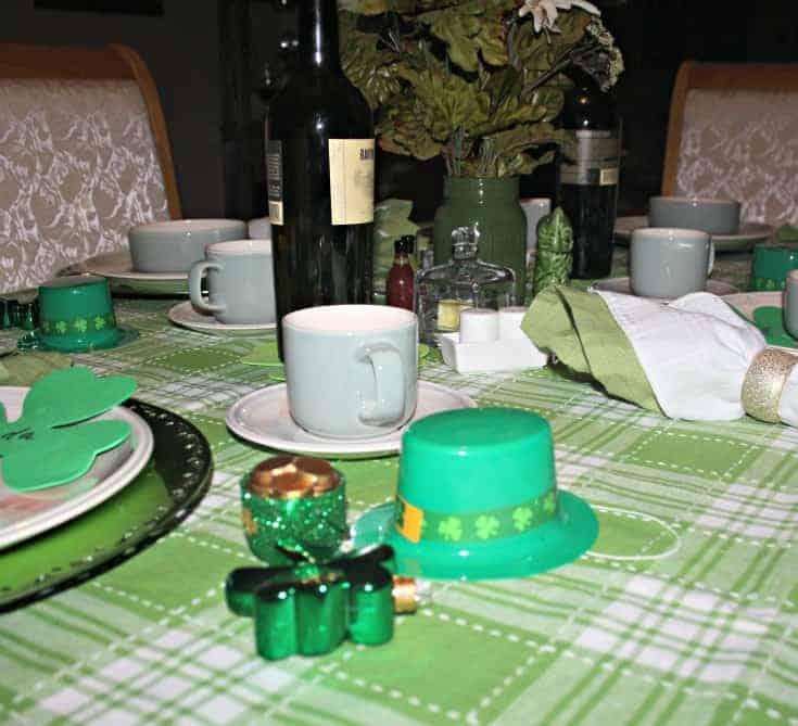 St Patrick's tablescape 3