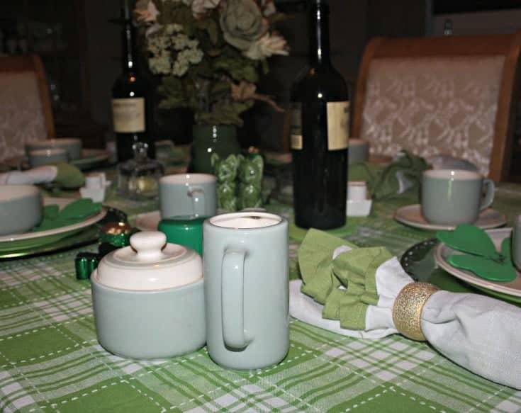 St Patrick's festive tablescape 2
