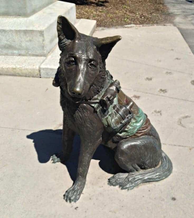 animals in war, a memorial in Ottawa