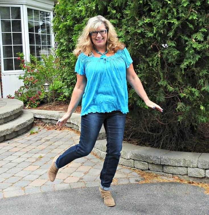 Haggar Dream jeans and rodeo boots for a festival vibe