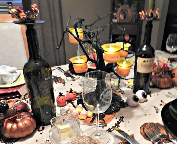 fun halloween table setting