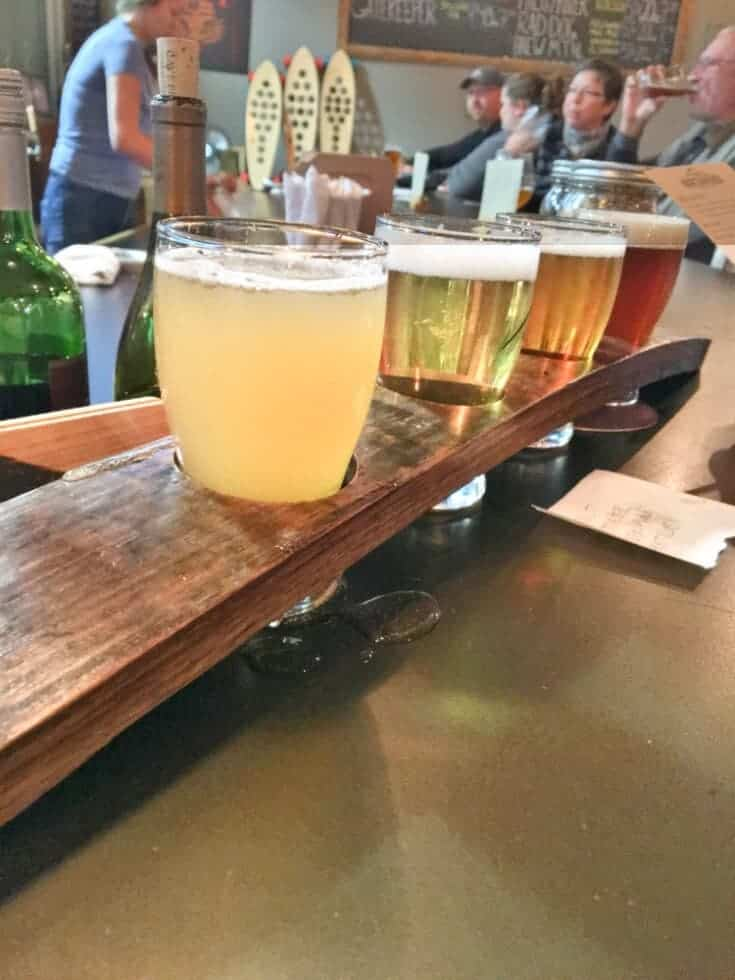Northwinds Brewery and Kitchen in Collingwood Beer flight