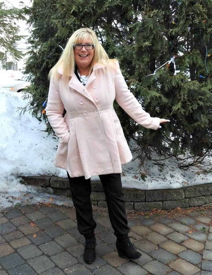 pink target coat