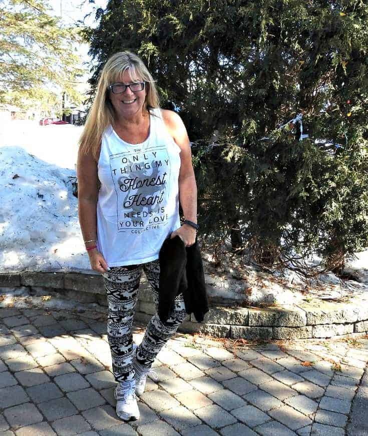 aztec lined leggings and a tank