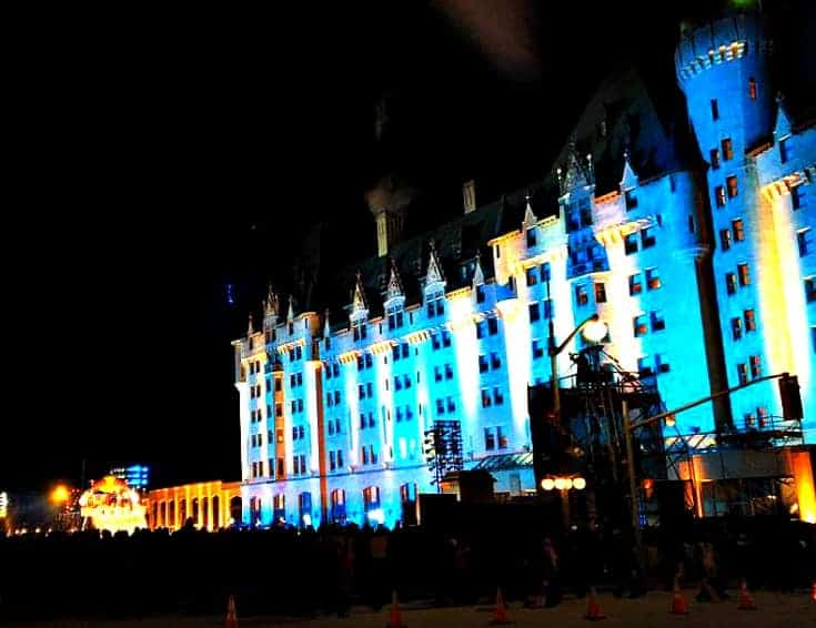 Chateau Laurier and the Red Bull Crashed Ice in March