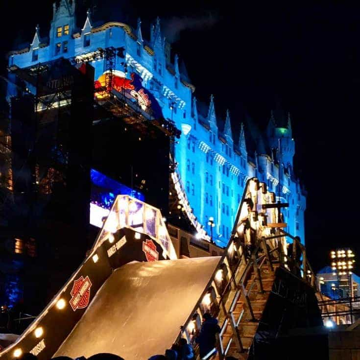 Chateau Laurier and the Red Bull Crashed Ice