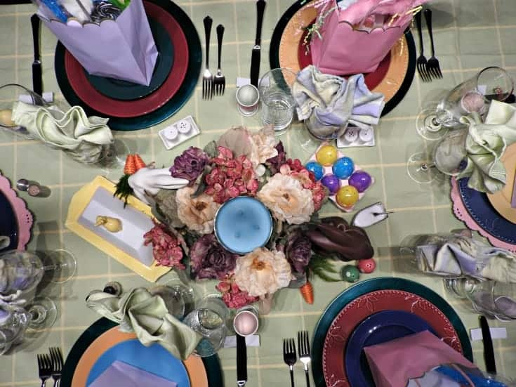 Easter table with a Sydney fold napkin