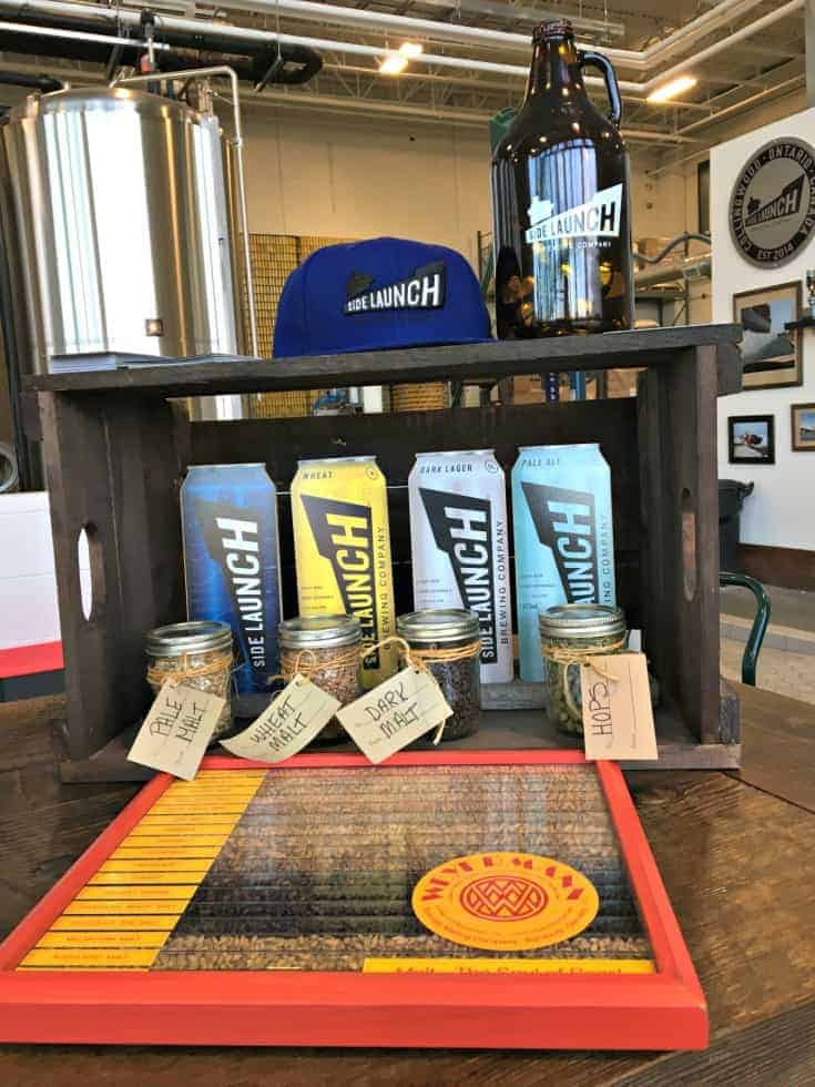 beer displayed at Side launch Brewery in Collingwood