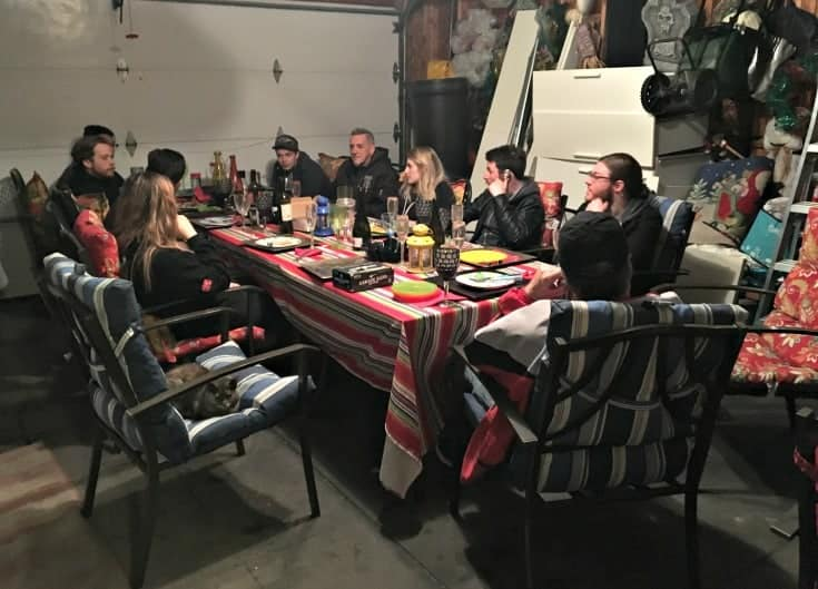 supper in the garage with the Honest Heart Collective