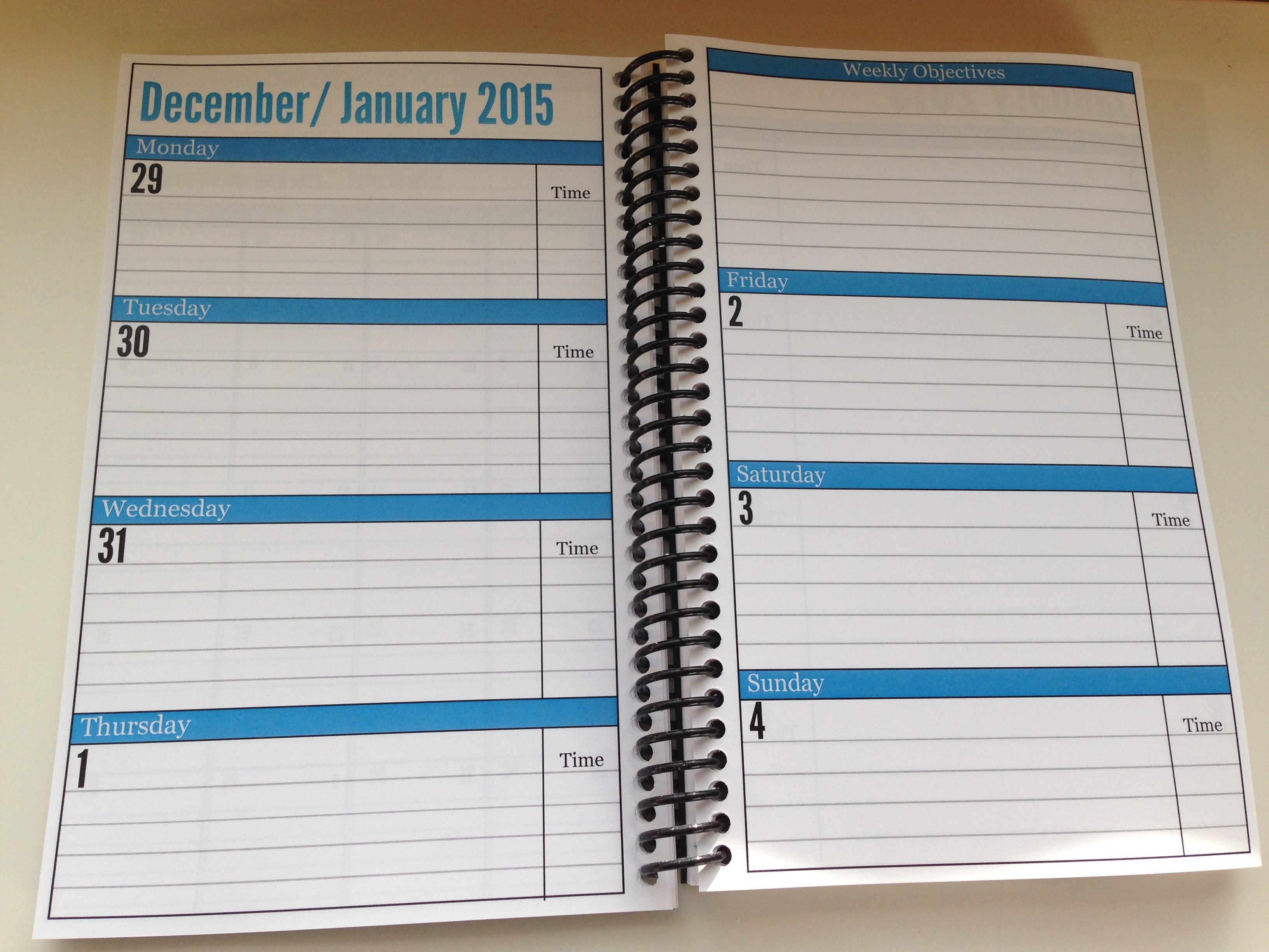 photo relating to Daily Planner Notebook named Crucial Every day Planner 7 days Watch - Just one Ready Small business