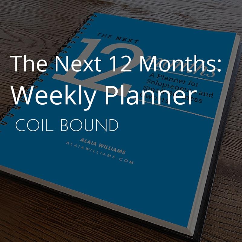 The Next 12 Months Planner Spiral Bound