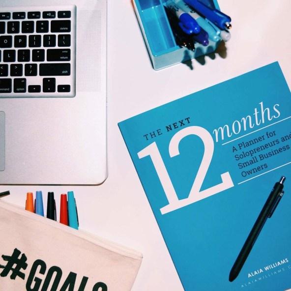 the next 12 months planner