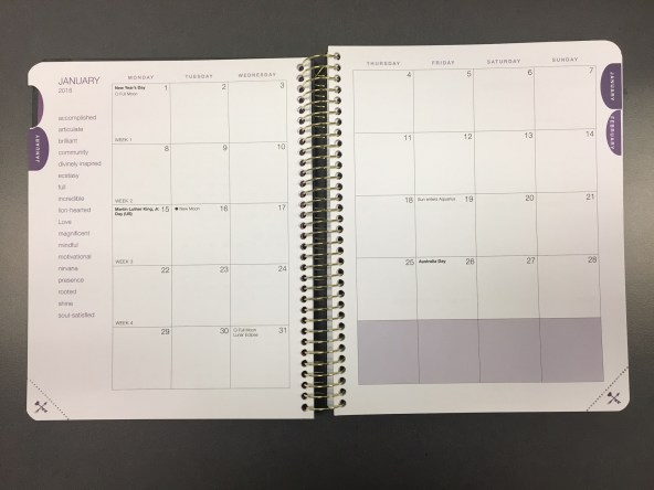 2018 desire map planner monthly spread