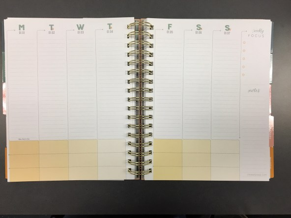 inkwell press weekly planning spread