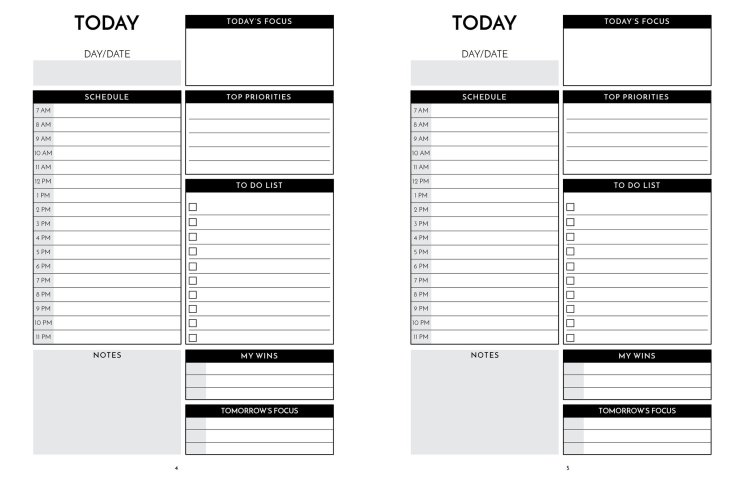 Inside-The Next 12 Month Quarterly-90 Day Planner