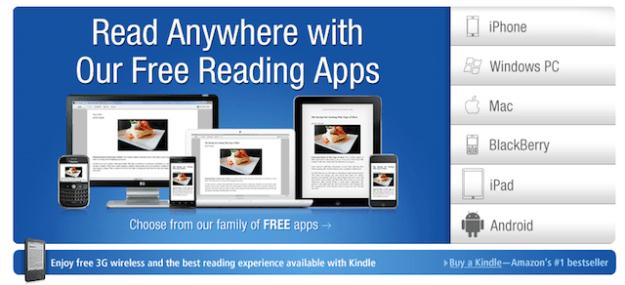"""La grande variété des """"kindle apps""""..."""