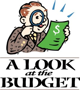 looking at the budget